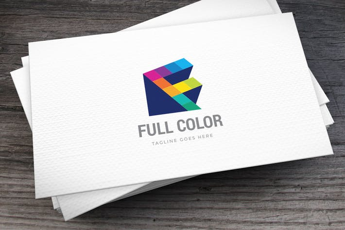 Cover Image For Full Color Letter F Logo Template