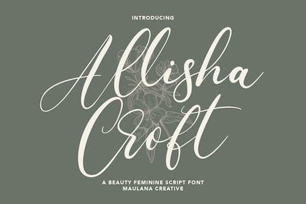 Allisha Croft Beauty Feminine Script