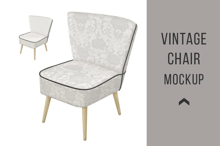 Cover Image For Vintage Armchair Mockup