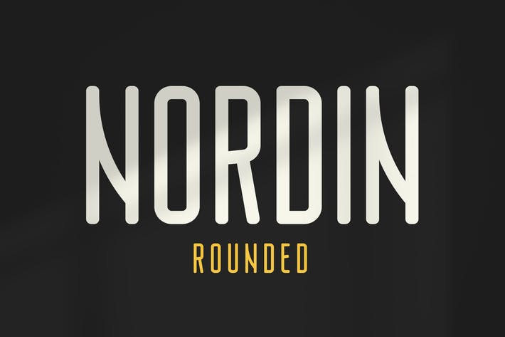 Thumbnail for Nordin Rounded - Condensed Sans