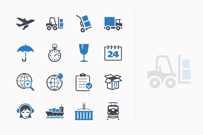 Thumbnail for Logistics Icons - Blue Series
