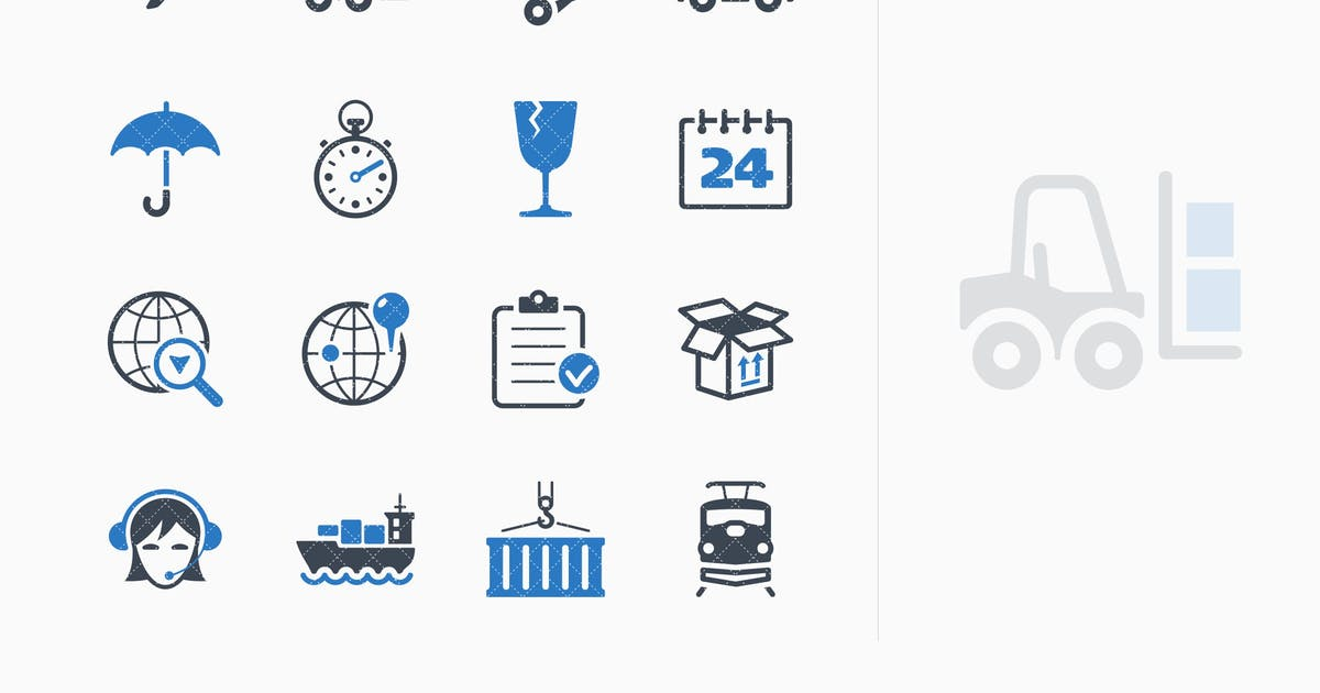 Download Logistics Icons - Blue Series by introwiz1