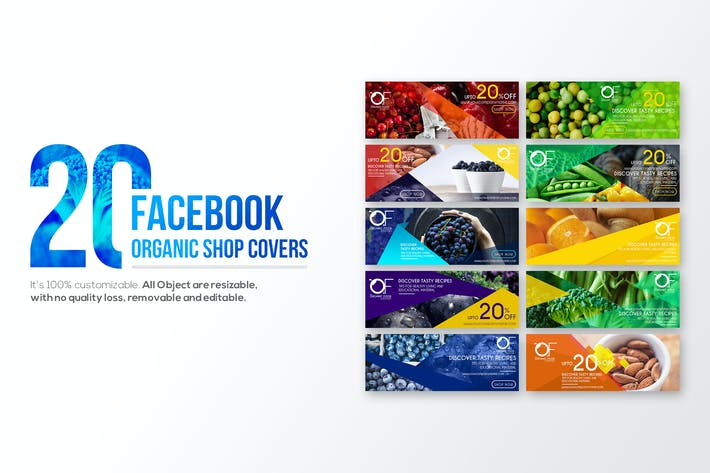 Thumbnail for 20 Facebook Cover-Organic Shop