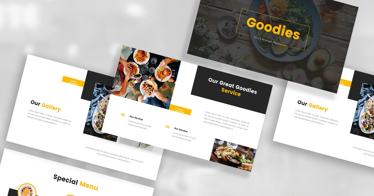 Download Food & Beverages Keynote Template by StringLabs