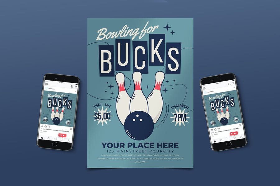 Tournament Bowling Flyer Pack
