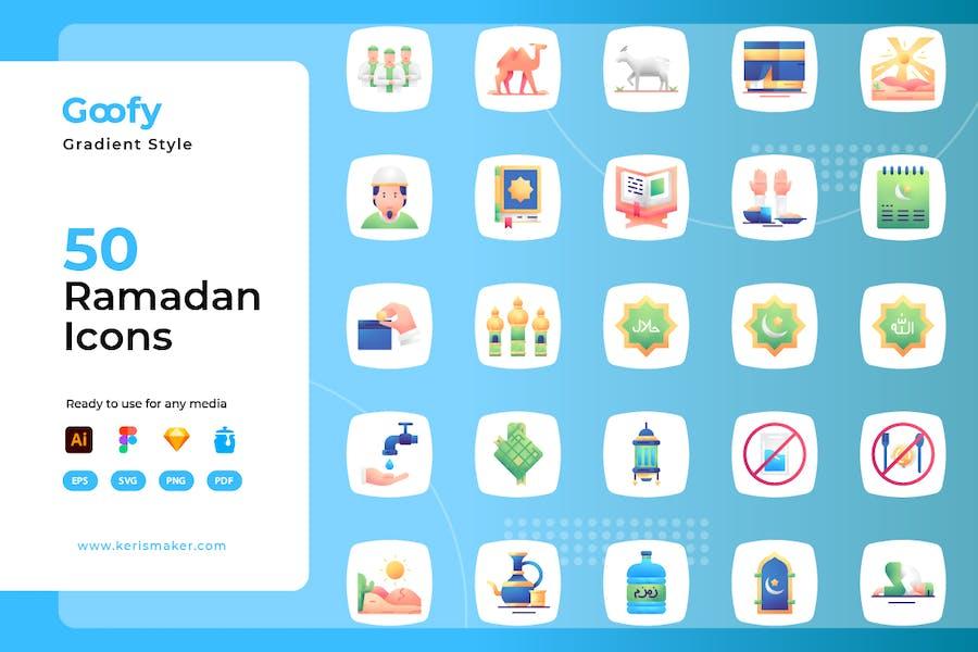 Goofy - Ramadan-Gradienten-Symbole