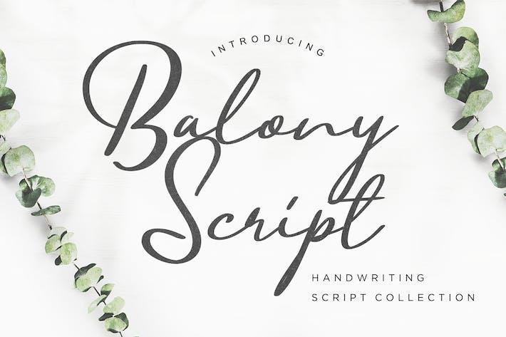 Thumbnail for Balony Script Handwriting