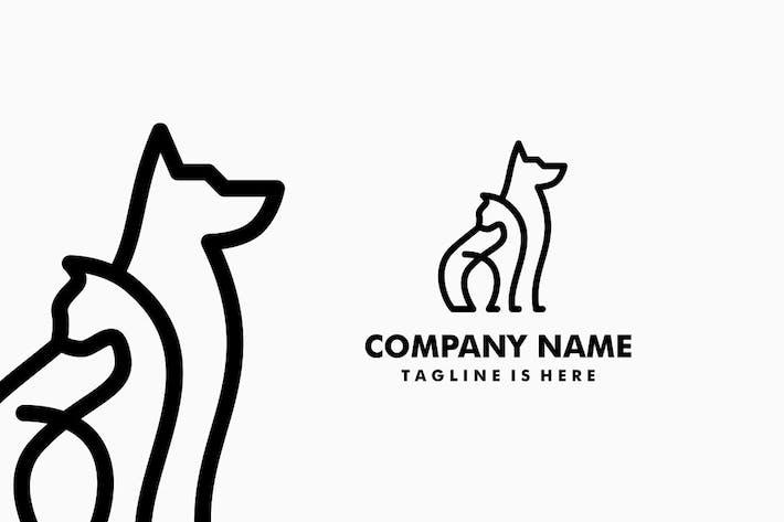 Thumbnail for Dog Cat Pet Monoline Logo