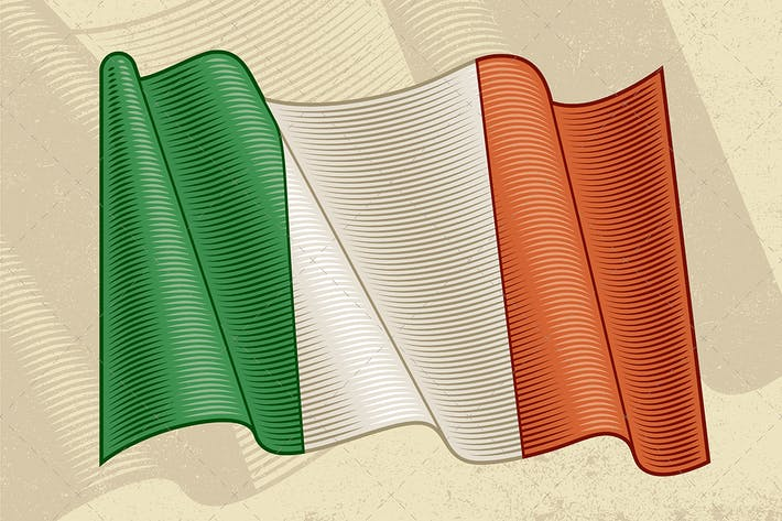 Thumbnail for Vintage Flag Of Italy