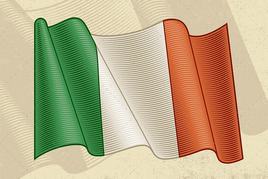 Vintage Flag Of Italy