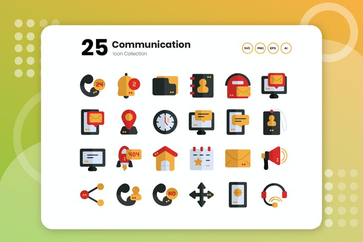 Thumbnail for 25 Communication Flat Icon