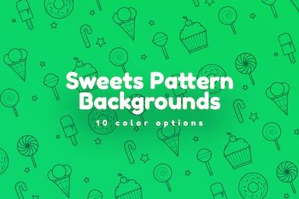 Süßigkeiten Muster Hintergründe