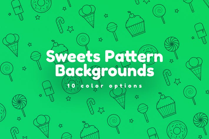 Thumbnail for Sweets Pattern Backgrounds