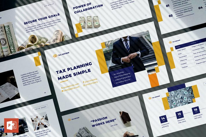 Cover Image For Tax Advisor PowerPoint Presentation Template