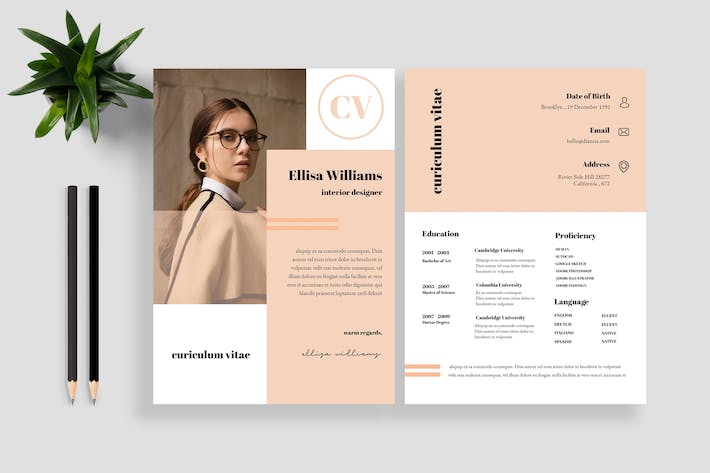 Thumbnail for Clean Resume / CV Template 11