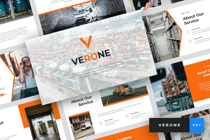 Thumbnail for Verone - Logistics Keynote Template