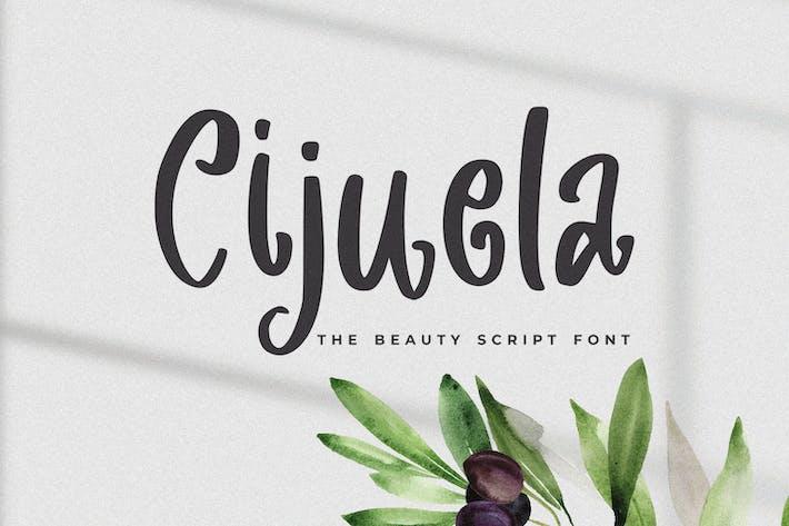 Thumbnail for Cijuela - The Beauty Script Font