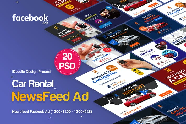 Thumbnail for Car Rental NewsFeed Facebook Ad