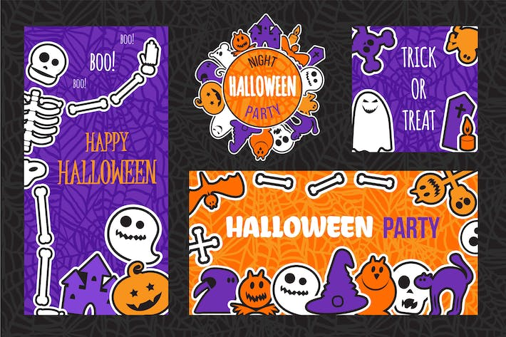Thumbnail for Halloween Party Banners Set