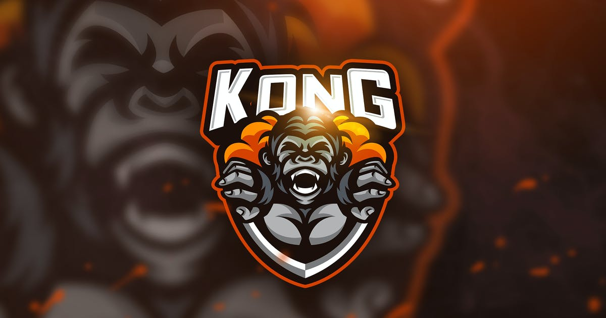 Download Kong Scream - Mascot & Esport Logo by aqrstudio