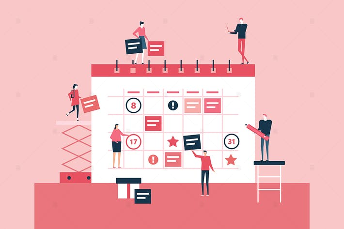 Thumbnail for Geschäftsplanung - flache Design-Stil Illustration