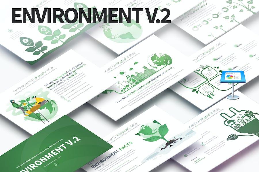 Environment V.2 - Keynote Infographics Slides