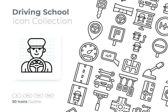 Thumbnail for Icono de esquema de escuela de conducción