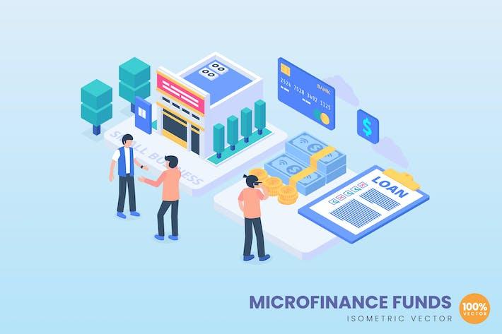 Microfinance Funds Concept Illustration