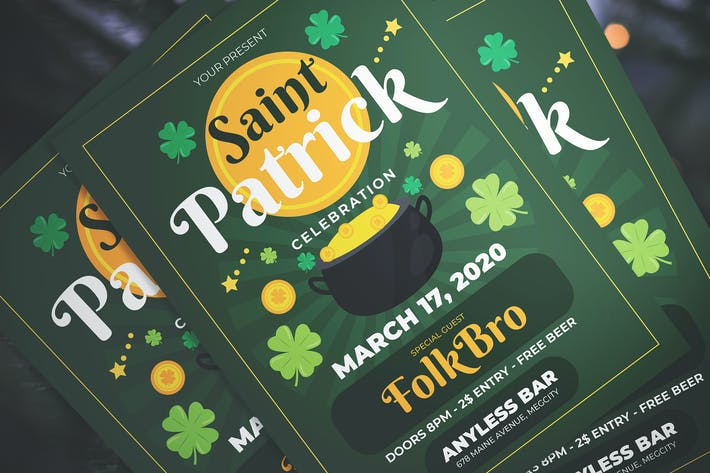 Thumbnail for Saint Patrick Party Flyer