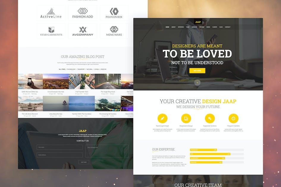 Download Jaap - Creative Onepage Joomla Template by bdthemes