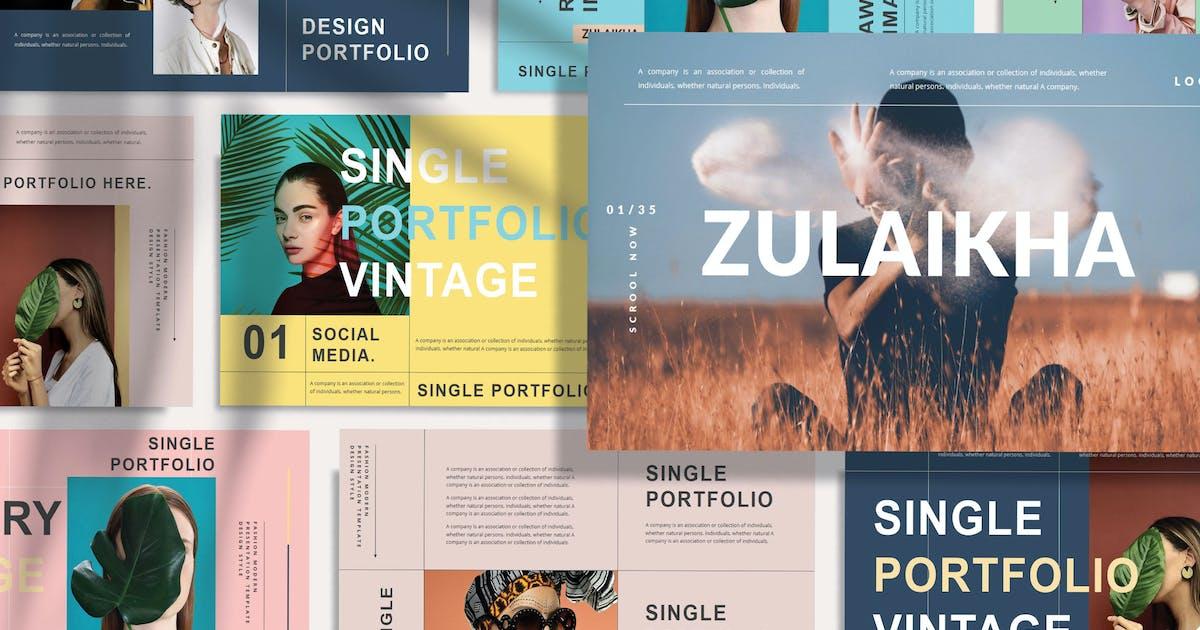 Download ZULAIKHA - Modern Fashion Powerpoint Template by joelmaker