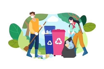 Recycling-Abbildung Konzept