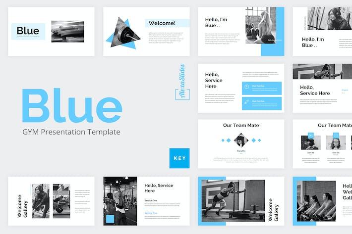 Thumbnail for Blue - Gym Keynote Presentation Template