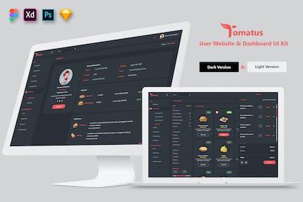 Tomatus-Restaurant User Website & Dashboard UI Kit