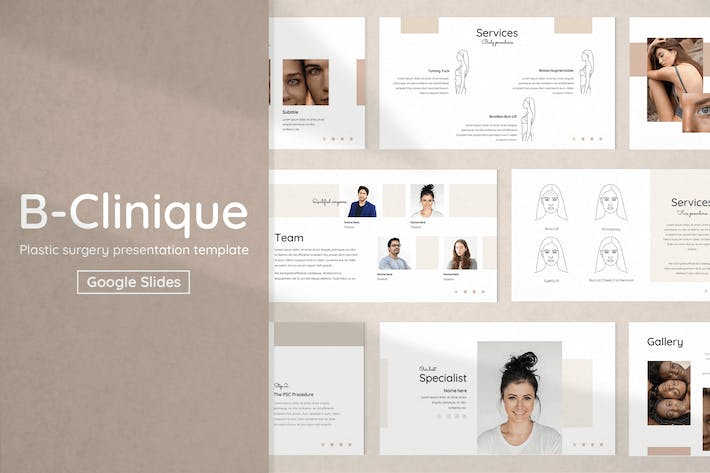 Plastic Surgery & Cosmetology Slides Template