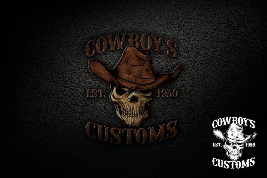 Skull Cowboy Logo