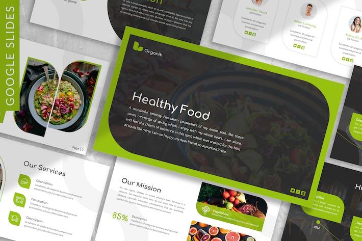 Organik - Healthy Google Slide Template