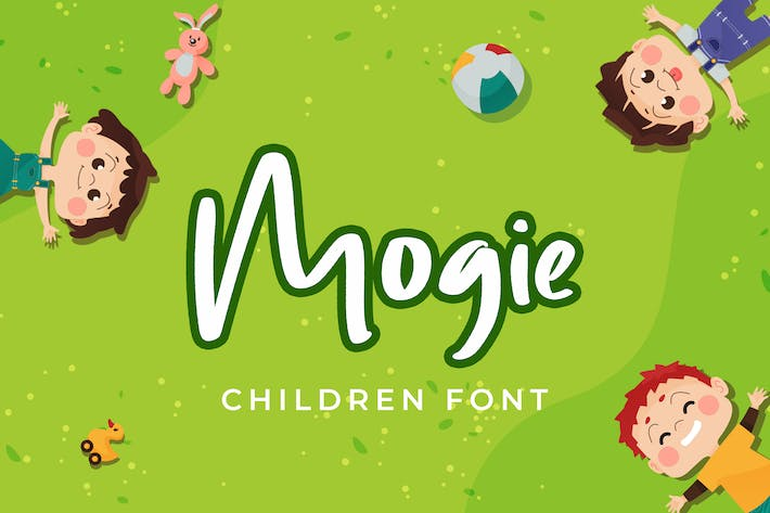 Thumbnail for Mogie Cute and Amazing Display Font