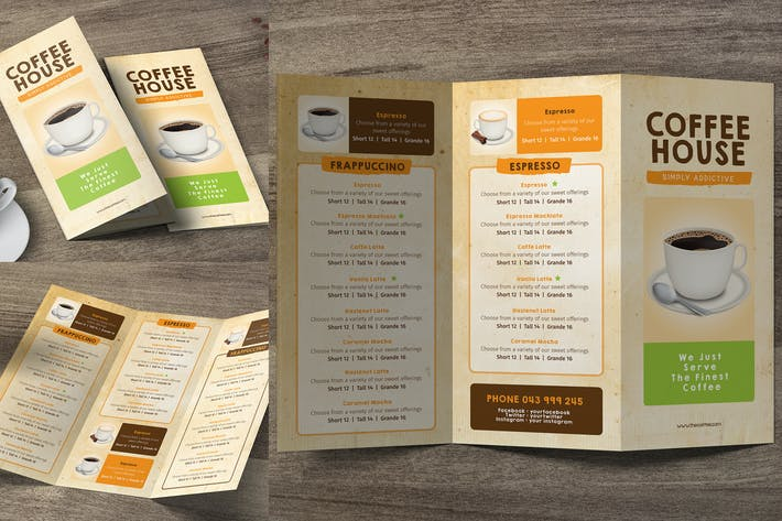Thumbnail for Coffee Trifold Menu