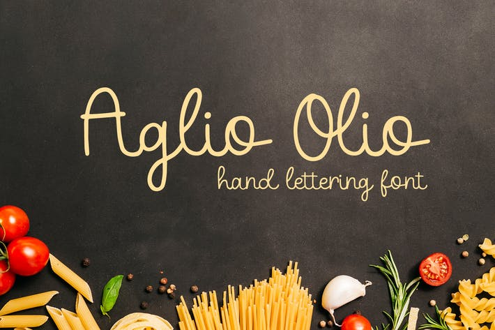 Cover Image For Aglio Olio - Police de lettrage à la main