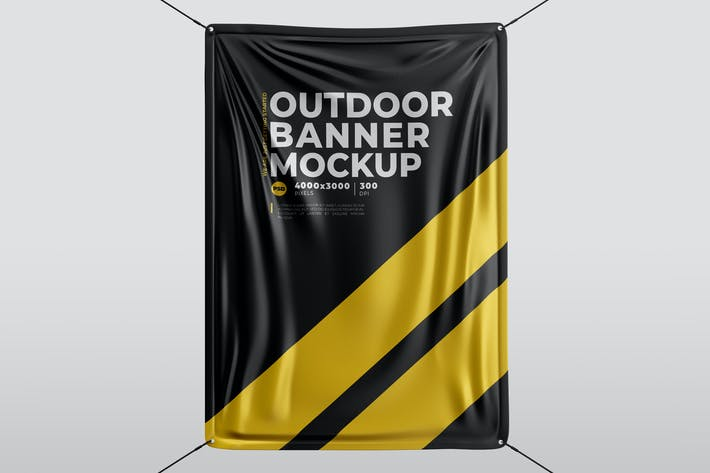 Thumbnail for Outdoor Banner Mock-Up