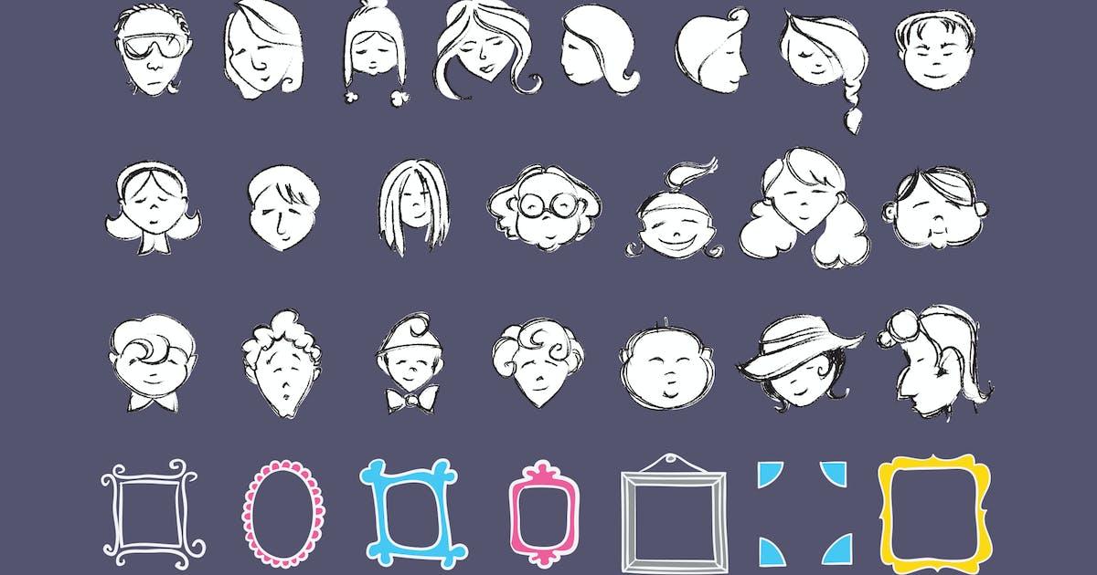 Download Faces & Frames Doodles by Jumsoft