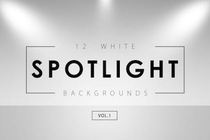 12 White Spotlight Backgrounds 1