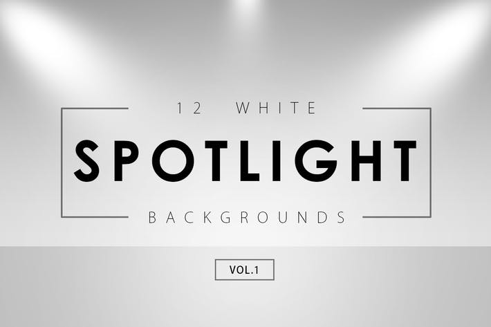 Thumbnail for 12 White Spotlight Backgrounds 1