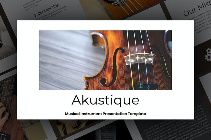 Thumbnail for Akustiq — Музыкальный Шаблон слайда Google