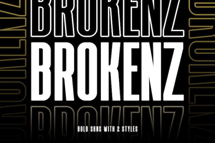 Thumbnail for BROKENZ - BOLD SANS 4 FONT
