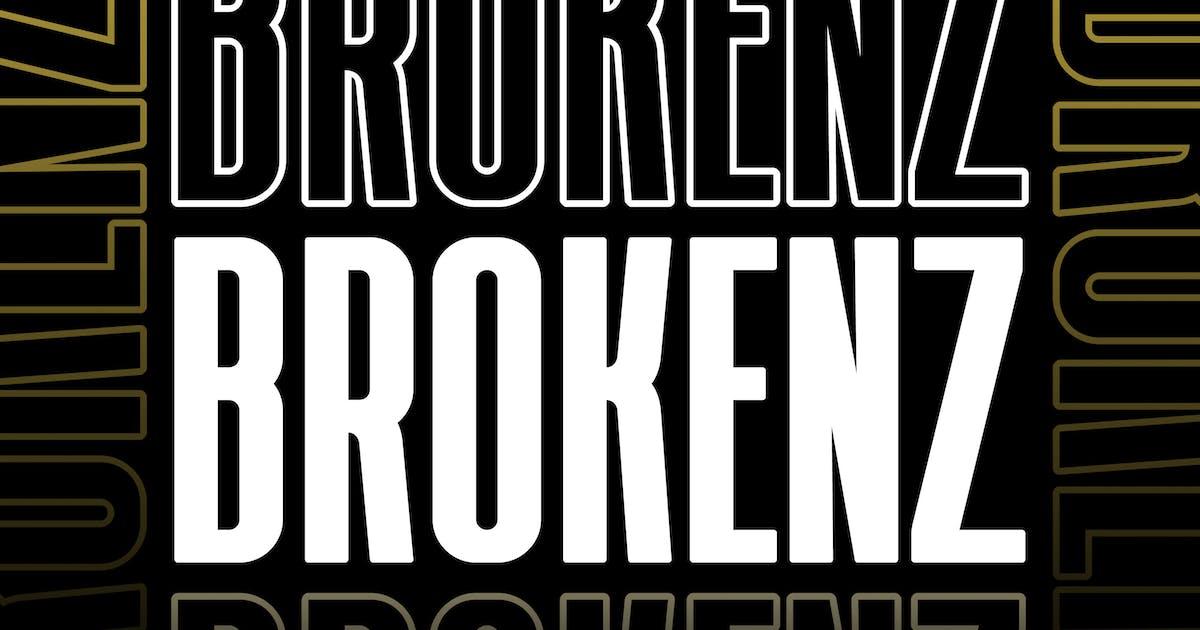 Download BROKENZ - BOLD SANS 4 FONT by Alterzone