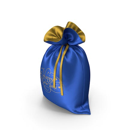 Blue Happy New Year Bag with Gifts
