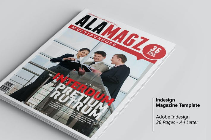 Thumbnail for Alamagz - InDesign Magazine Template