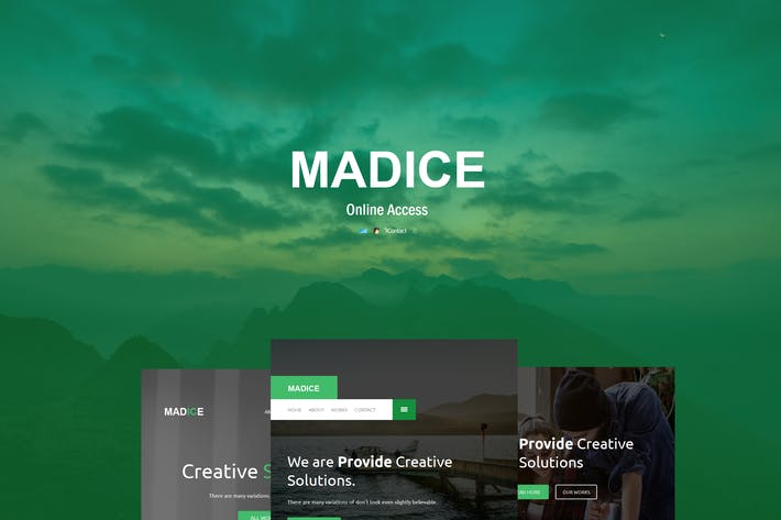 Thumbnail for Madice - Responsive E-mail Template